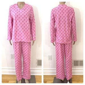 New Women's 2 Piece Fleece Pajama Set Medium